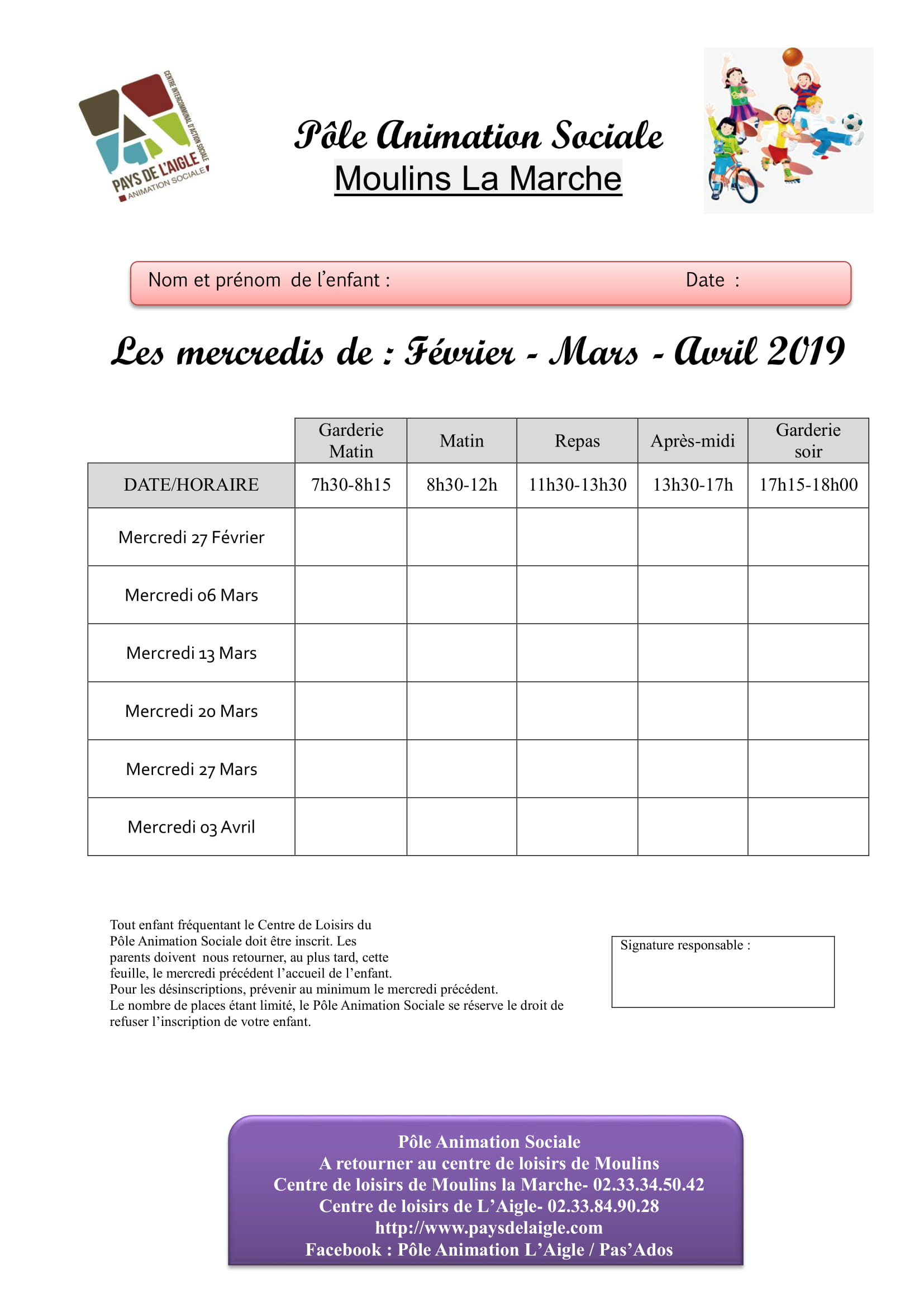 Feuille dinscription moulins mercredi fevrier mars avril 2019 1