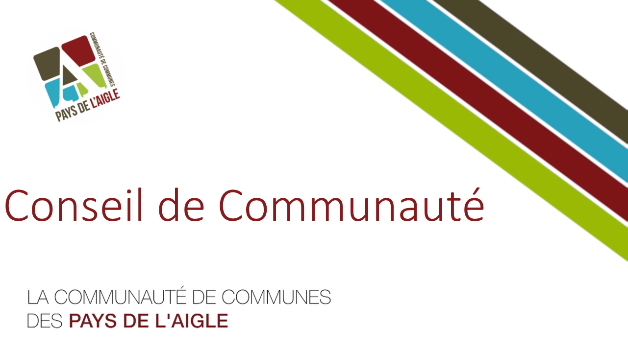 CONSEIL DE COMMUNAUTE EN DIRECT VIDEO