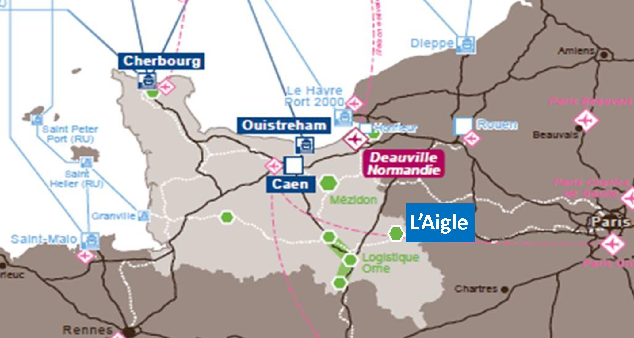 carte normandie